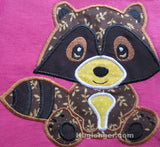 Applique Baby Raccoon embroidery file