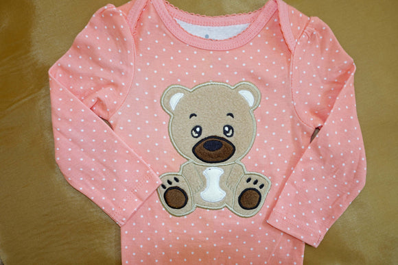 Applique Baby Bear embroidery file