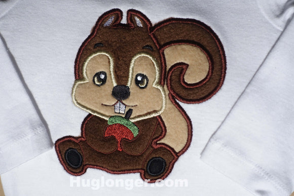 Applique Baby Squirrel embroidery file