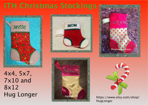 ITH Christmas Stocking embroidery file