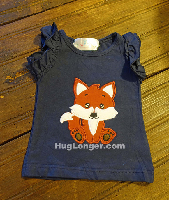 Applique Baby Fox embroidery file