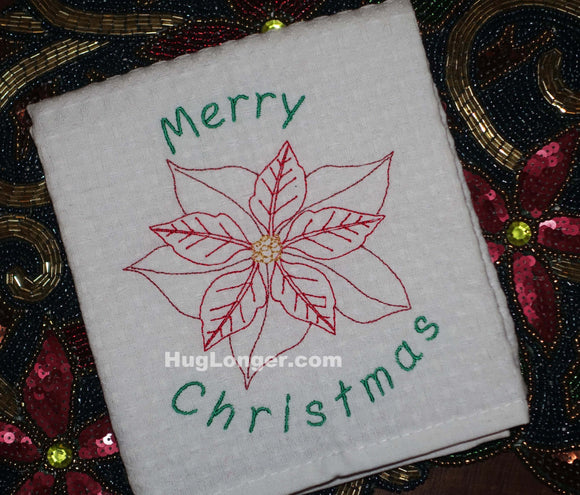 Poinsettia embroidery file