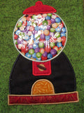 Applique Gumball Machine Embroidery file