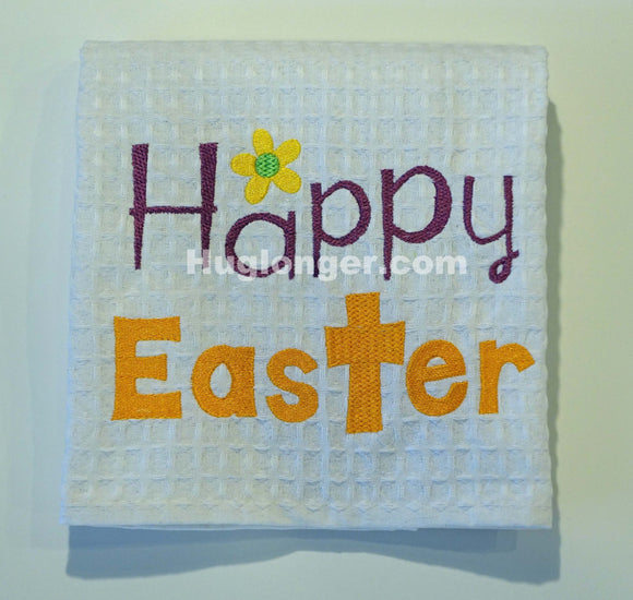 Happy Easter Fill Stitch embroidery file