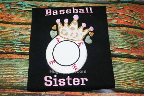 Applique Baseball Crown Embroidery File HL1009