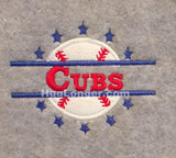 Applique Split Baseball Softball HL1013 embroidery file