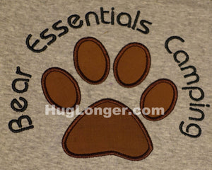 Applique Bear Paw embroidery file HL1015 dog paw