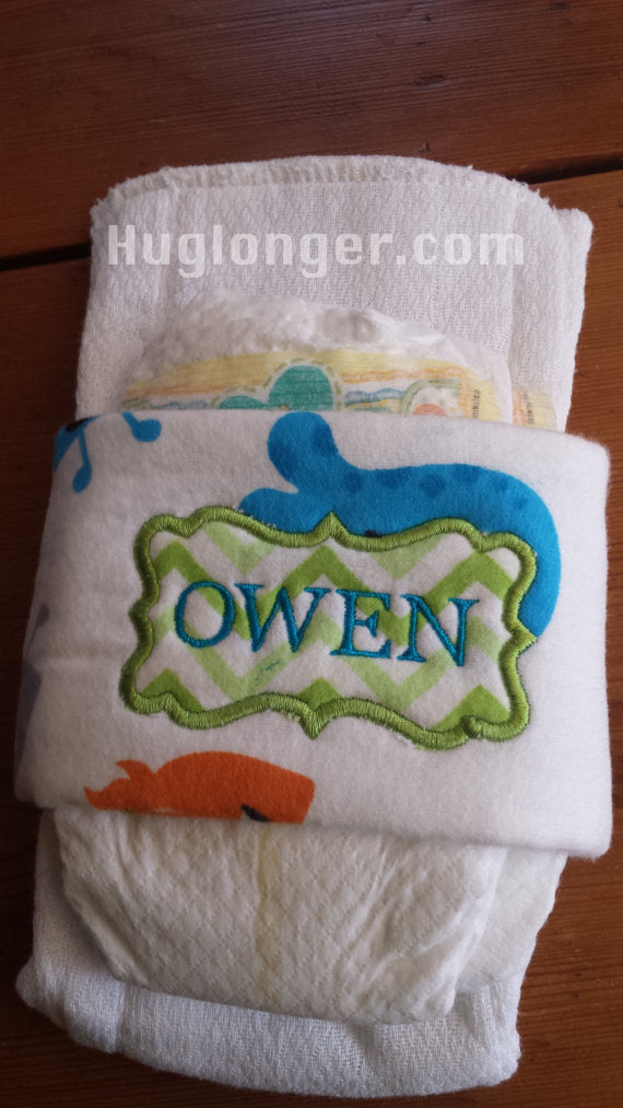 ITH Diaper Wrap special request embroidery file