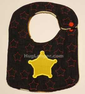 ITH Sheriff bib embroidery file-in the hoop baby bib