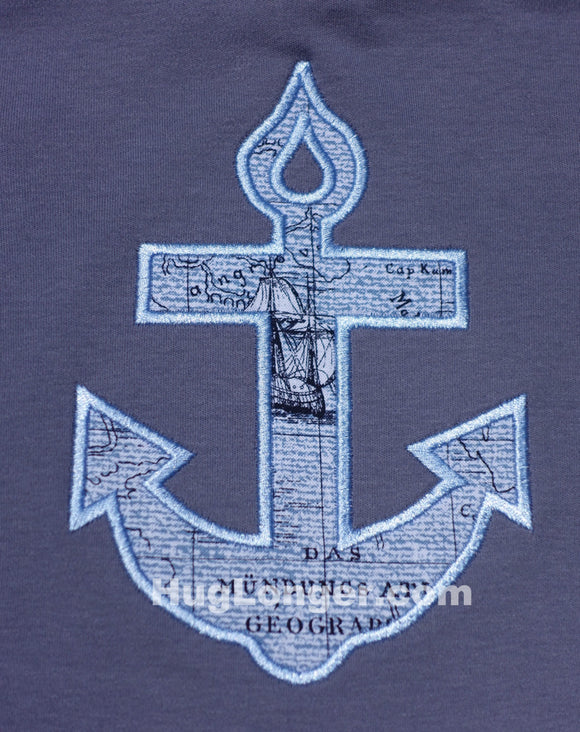 Applique Anchor embroidery file Ship, beach or cruise design fun for vacation