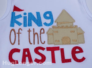 King Of The Castle embroidery file HL1031 Beach embroidery Castle appliqué