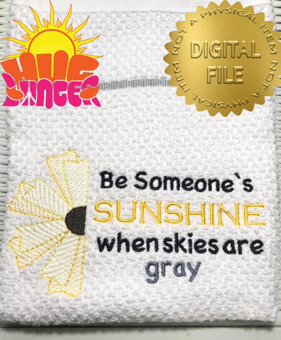 Be Someone's Sunshine HL5744 embroidery files