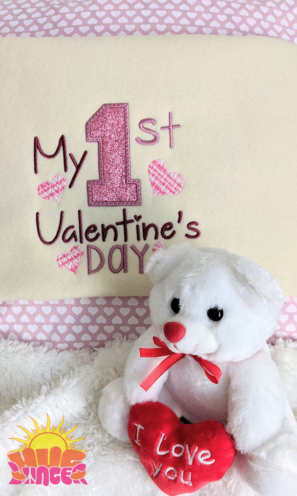 My 1st Valentine's Day HL5764 embroidery file