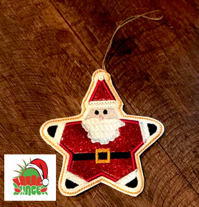 HL ITH Santa Star Ornament HL5632