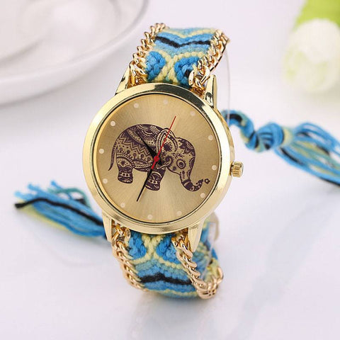 Handmade Elephant Boho Casual Watch