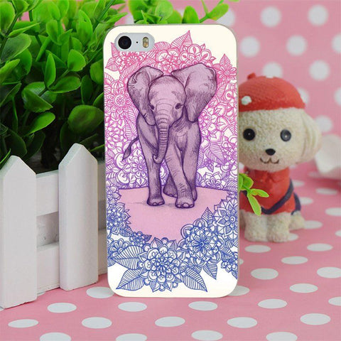 Floral Baby Elephant IPhone Case