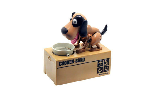 Coin Eating Dog Money Box