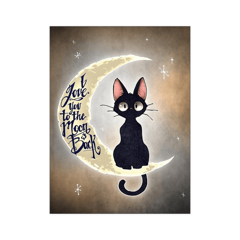 I Love You To The Moon & Back Cat Poster