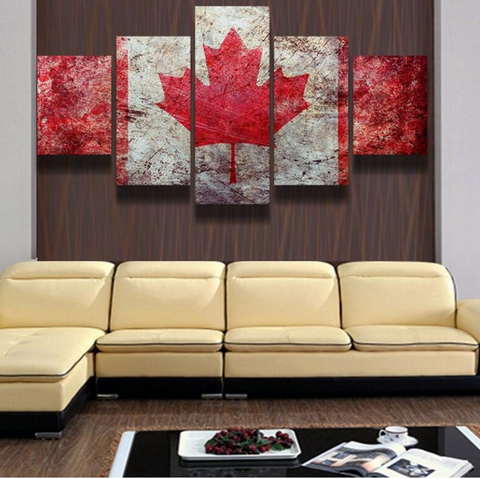 Canada Flag Canvas Art