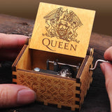 Queen Engraved wooden music box