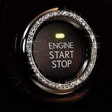 Crystal Car Engine Start Stop Ignition Switch Button