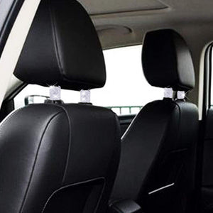 Car Headrest Rings Interior Decor - 4 Pack White