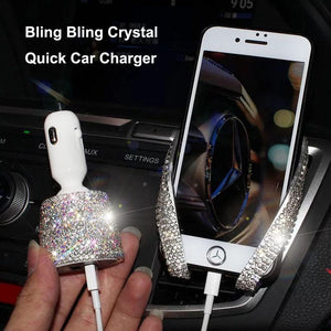 Crystallized Dual USB Quick Car Charger