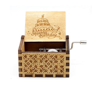 Happy Birthday - Engraved wooden music box
