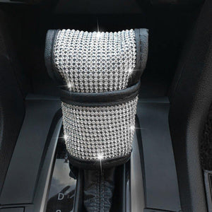 SWAROVSKI CRYSTAL Handbrake Covers + Shift Gear Cover + Seat Belt Cover