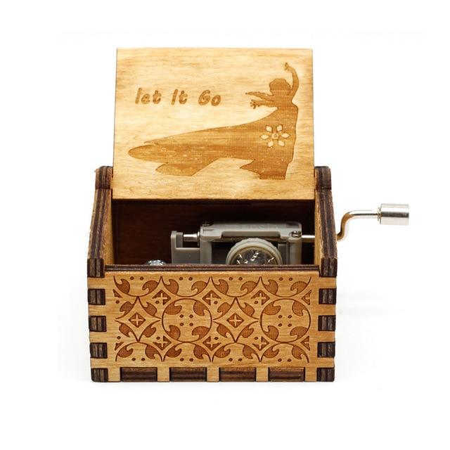 Let it Go - Engraved wooden music box