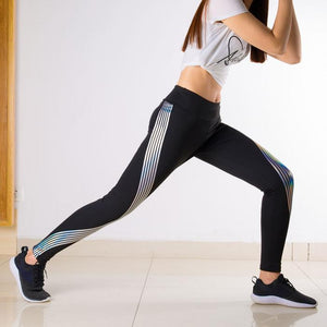 Glowing Rainbow Reflective Leggings