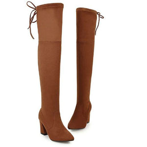 DAC™ New Flock Leather Knee Boots