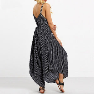 Womens Oversized Sexy Strapless Casual Loose Striped Beach Wear Top