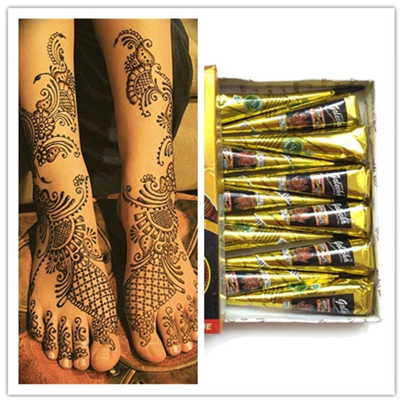 Natural Henna Mehendi Tattoo Dac Collection