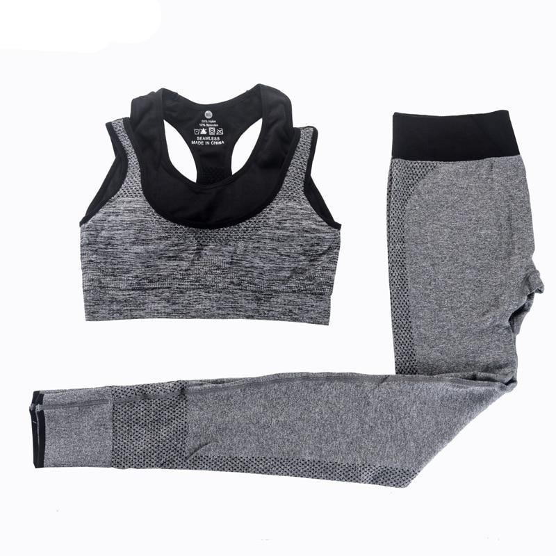 2Pcs Women Fitness Sport Bra+Yoga Pants Leggings Set