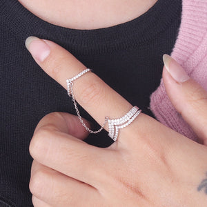 Chic feminine cocktail ring