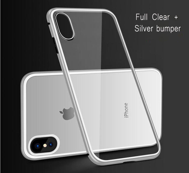 iPhone Magnetic Adsorption Case With Tempered Glass