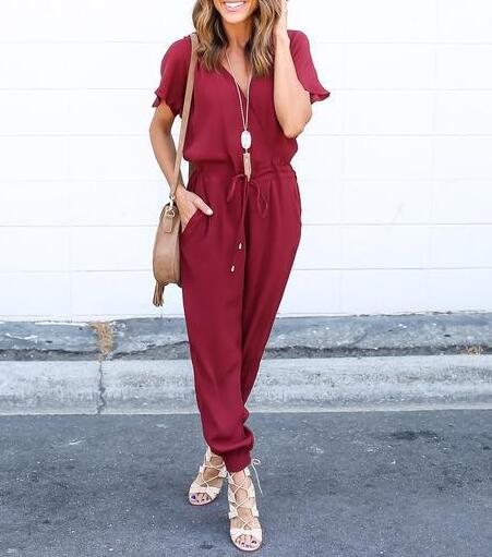 Summer Cross Lacing Jumpsuits