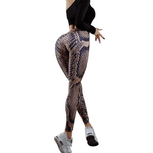 Seductive Serpent High Waist Push Up Leggings