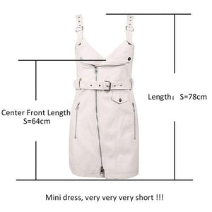 Simplee Fashion PU leather dress