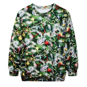 Funny Print Ugly Christmas Sweater