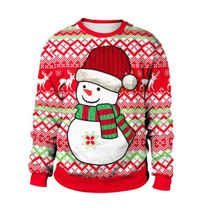 Snowman 3D Crew Ugly Christmas Sweater