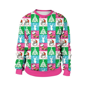 Santa Claus Cartoon 3D Ugly Christmas Sweater