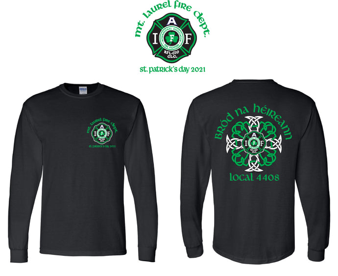 Mt Laurel St. Patrick's Day Long Sleeve Tee 2021
