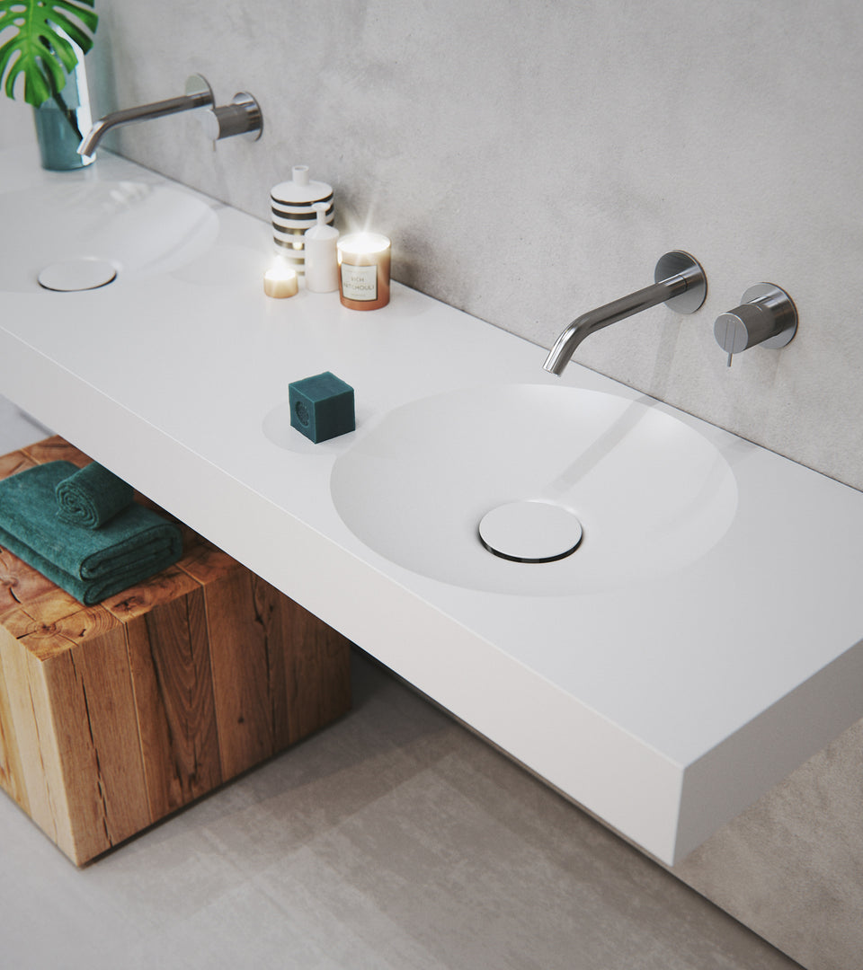 EROSION Dual wall-mount sink