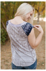 Pretty As A Picture Paisley Sleeveless Top (Ready to Ship) (4753921540185)