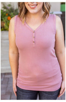 Addison Henley Tank - Rose (Ready to Ship)
