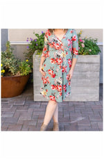 Taylor Dress - Sage Floral (Ready to Ship) (4736221872217)