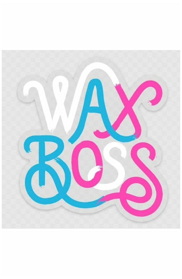 Wax Boss clear sticker (4706938585177)