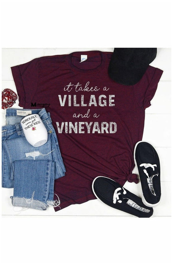 It Takes a Village and a Vineyard Tee (4742965166169)